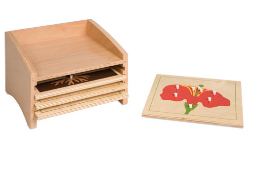 0.200.50 Botany Puzzle Cabinet- four Compartments