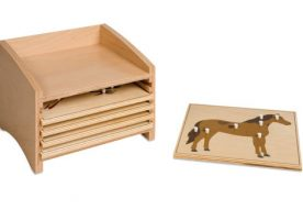 0.201.00 Animal Puzzle cabinet Five Compartments