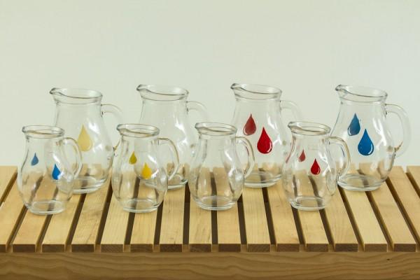 Jugs glass small & medium PL0044/45