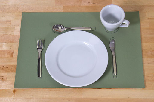 Vinyl placemat set PL0036G
