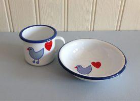 Enamel bowl & mug PL0049 PL0038