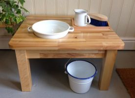 wash table bowl with handles PL0007WH