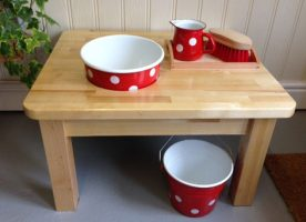 wash table red enamel PL0007RE