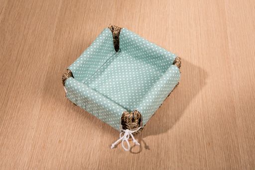 small lined basket
