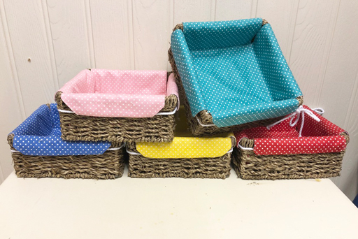 Colour coded polishing baskets