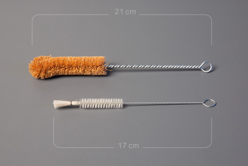 Brushes for bottle cleaning