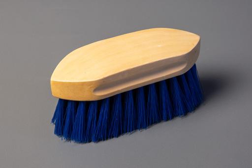 Scrubbing brush in blue