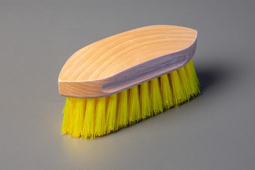 yellow scrubbing brush