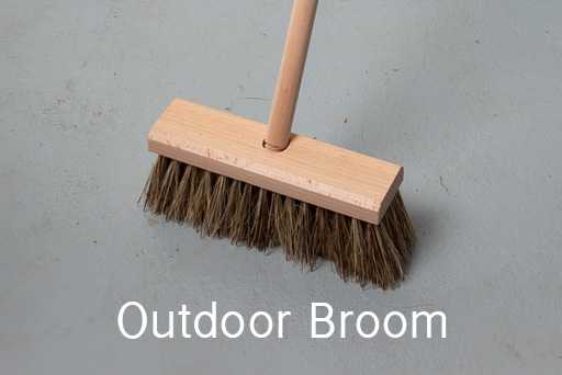 Broom for outdoor