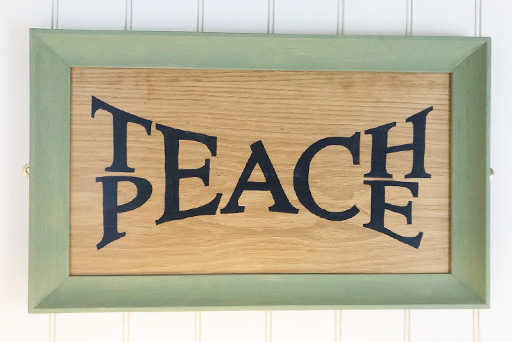 Teach Peace sign